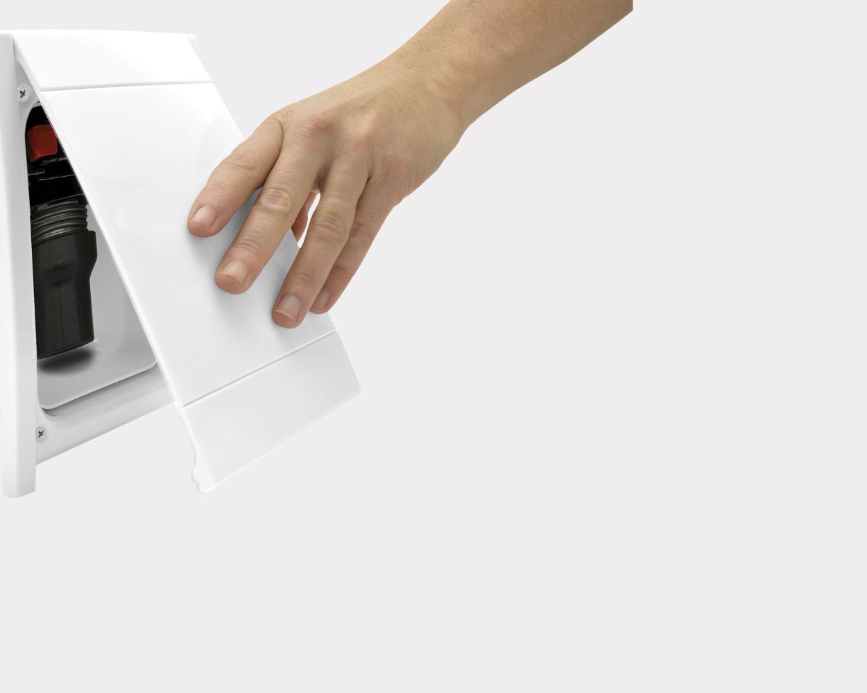 Presa aspirante Retraflex per sistema aspirapolvere centralizzato con tubo a scomparsa