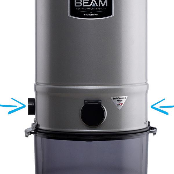 Raccordo di collegamento tubo aspirazione reversibile lati sinistro e destro centrale aspirante Beam