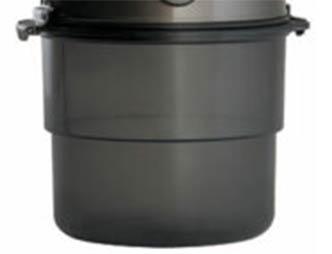 Contenitore semi-trasparente aspirapolvere centralizzato Beam Platinum