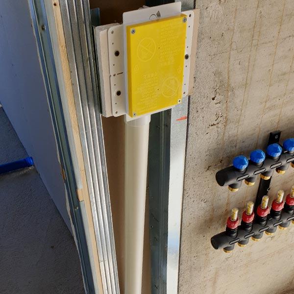 Installazione scatola contropresa retraflex aspirazione tubo a scomparsa