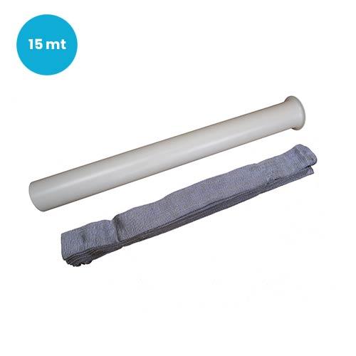 Calza di rivestimento protezione tubo flessibile aspirapolvere centralizzato metri 15