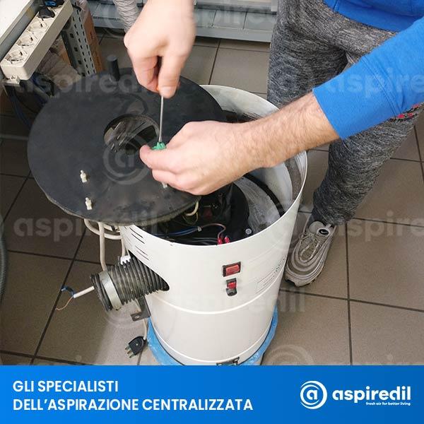 Manutenzione aspirapolvere Aspiredil Tornado 04/2