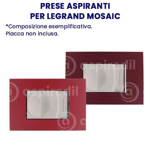 Presa aspirante Aspiredil per Legrand Mosaic
