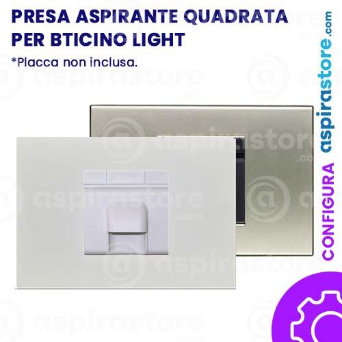 Presa di aspirazione quadrata per placca 502 Bticino Light