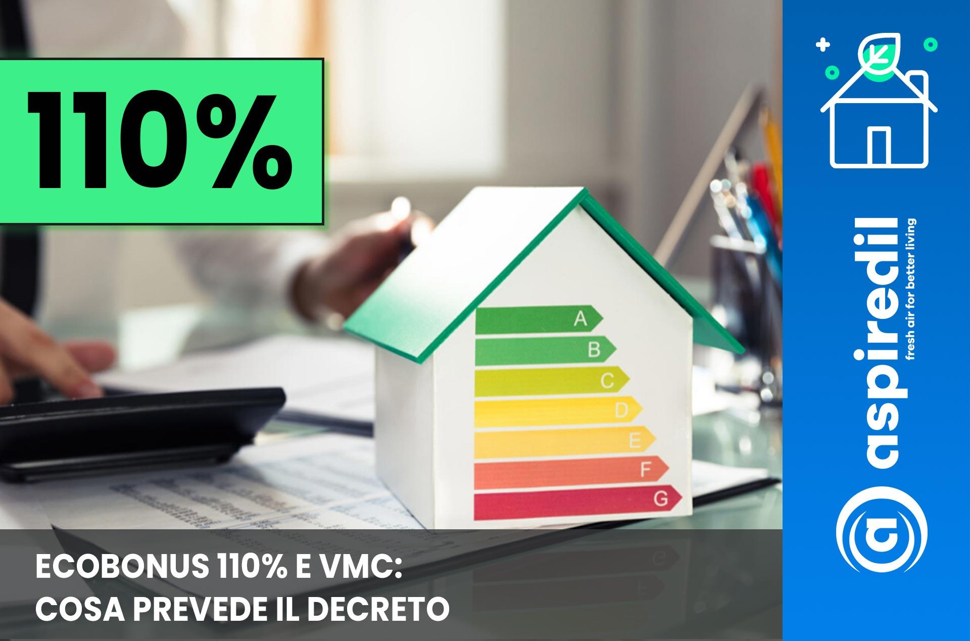 Ecobonus 110% e VMC cosa prevede il decreto